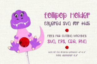 Print on Demand: Tyrannosaurus-Lollipop Holder Template Graphic 3D SVG By Olga Belova