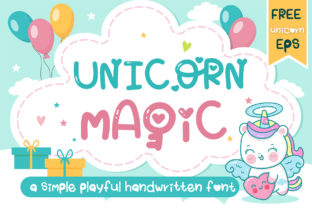 Print on Demand: Unicorn Magic Display Fuente Por vividdiy8