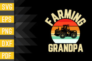 Vintage Tractor Gift for Farmer Farming Graphic Crafts By Designstore