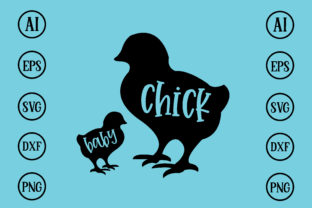 Print on Demand: Chick Baby Design SVG Graphic Print Templates By BDB_Graphics