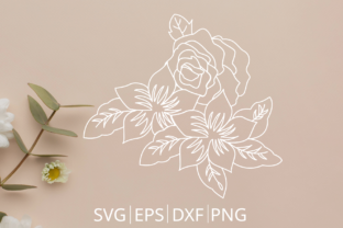 Floral Rosse Svg Files Graphic Crafts By Chamsae Studio