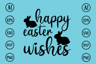 Print on Demand: Happy Easter Wishes Design Svg Graphic Print Templates By BDB_Graphics