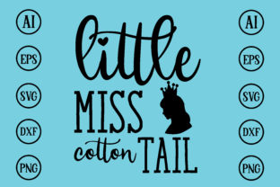 Print on Demand: Little Miss Cotton Tall Design SVG Graphic Print Templates By BDB_Graphics