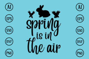 Print on Demand: Spring is in the Air Design SVG Graphic Print Templates By BDB_Graphics