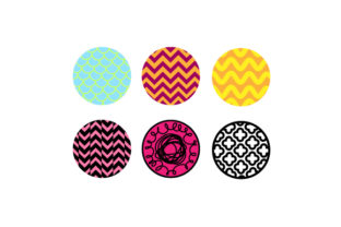 Round Keychain Backgrounds Diseños y Dibujos Archivo de Corte Craft Por Creative Fabrica Crafts