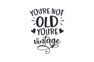 You're Not Old You're Vintage Cumpleaños Archivo de Corte Craft Por Creative Fabrica Crafts