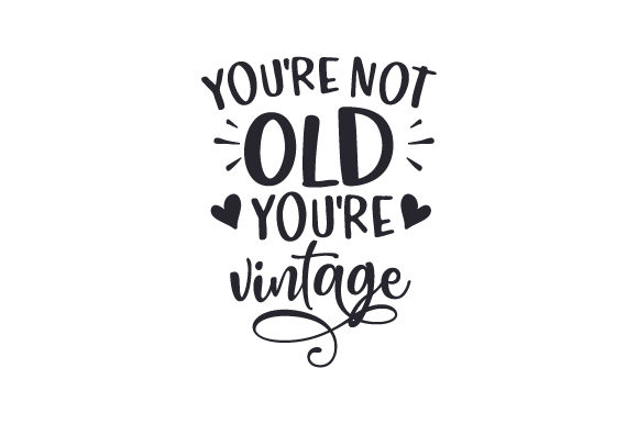 You're Not Old You're Vintage Birthday Craft Cut File By Creative Fabrica Crafts
