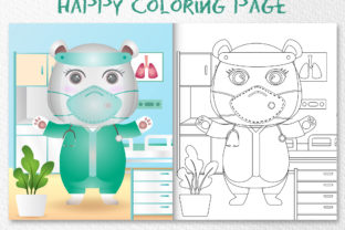 A Cute Polar Bear Med - Coloring Page Graphic Coloring Pages & Books Kids By wijayariko