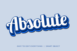 Absolute Stroke Style Text Effect Graphic Layer Styles By grgroup03