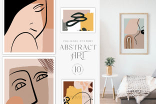 Abstract Wall Art Trendy Posters  JPEG Graphic Illustrations By Busy May Studio