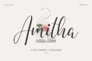 Print on Demand: Amitha Script & Handwritten Font By DYSA Studio