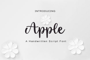 Print on Demand: Apple Script & Handwritten Font By FontCastle