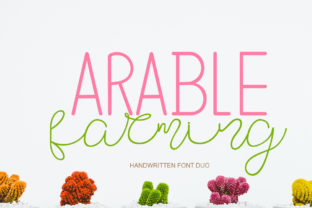 Print on Demand: Arable Farming Script & Handwritten Font By jehansyah251
