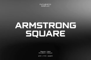 Print on Demand: Armstrong Square Display Font By fadielm70