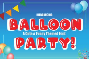 Print on Demand: Balloon Party! Display Fuente Por KtwoP