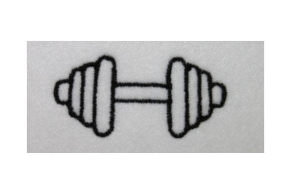 Bar Bell Embroidery