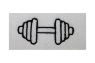 Bar Bell Wellness Embroidery Design By Wingsical Whims Designs