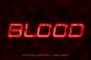 Blood 3d Style Text Effect Graphic Layer Styles By grgroup03