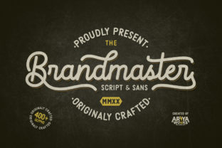 Print on Demand: Brandmaster Script & Handwritten Font By Ariya Works Studio