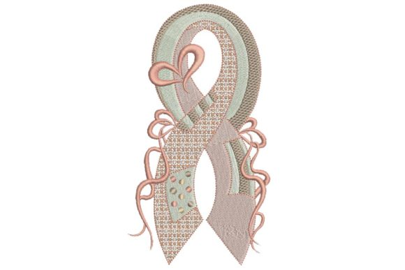 Breast Cancer Ribbon 3 Awareness Embroidery Design By BabyNucci Embroidery Designs
