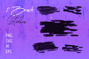 Print on Demand: Brush Stroke Clipart , Watercolor Brush Graphic Brushes By SadaRong