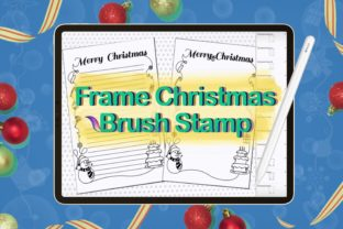 Brush Stamp Frame Christmas Paper Graphic Brushes By Digital ideas Art