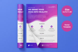 Business Flyer Template Vector for Print Grafik Druck-Templates von graphs_art