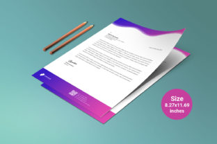 Business Letterhead Template Vector Pink Graphic Print Templates By graphs_art