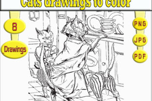 Print on Demand: Cat Drawings to Color Graphic Coloring Pages & Books Adults By kdp Edition