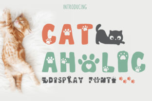 Print on Demand: Cat-Aholic Display Font By Pila Studio