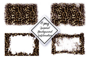 Cheetah, Leopard Background Sublimation Graphic Backgrounds By DenizDesign