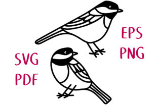 Chickadee Birds SVG Cut File Graphic Crafts By Nic Squirrell