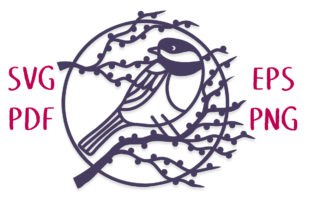 Chickadee Moon SVG Cut File Graphic Crafts By Nic Squirrell