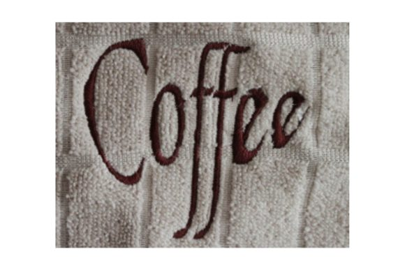 Coffee Words Embroidery