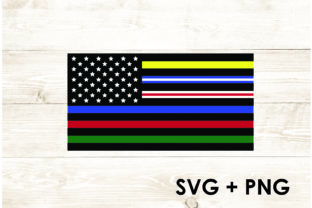Print on Demand: Colored Ameriacn Flag All Stripes Graphic Print Templates By Too Sweet Inc