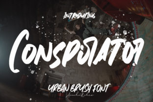 Print on Demand: Conspirator Display Font By Arendxstudio