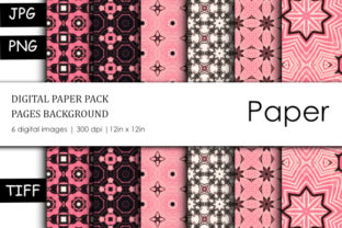 Print on Demand: Cute Geometric Pattern Digital Paper Graphic Backgrounds By stanosh