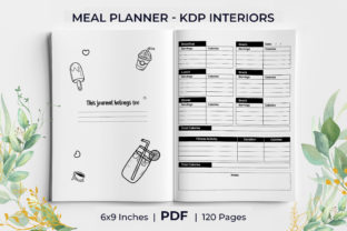 Print on Demand: Daily Meal Planner Undated KDP Interior Graphic KDP Interiors By KdpKing