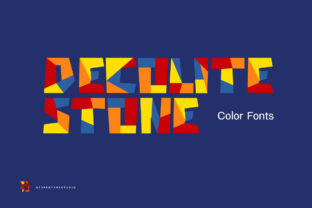 Print on Demand: Decolite Stone Color Fonts Font By heypentype