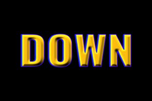Print on Demand: Down 3d Style Text Effect Graphic Layer Styles By grgroup03
