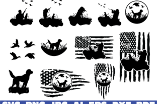 Duck Hunting Usa Flag Graphic Illustrations By dodo2000mn1993