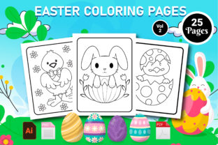 Print on Demand: Easter Coloring Book- KDP Interior Vol 2 Graphic KDP Interiors By Creative Designer