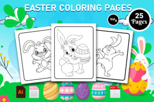 Print on Demand: Easter Coloring Book- KDP Interior Vol 3 Graphic KDP Interiors By Creative Designer