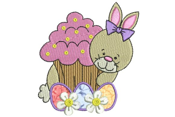 Easter Delight Bunny Applique 1 Easter Embroidery Design By BabyNucci Embroidery Designs
