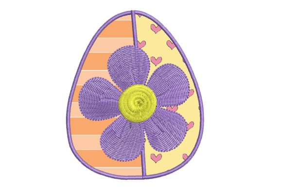 Easter Delight Egg Applique 2 Easter Embroidery Design By BabyNucci Embroidery Designs