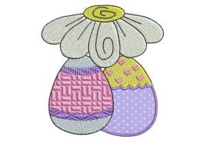 Easter Delight Eggs Applique 1 Easter Embroidery Design By BabyNucci Embroidery Designs