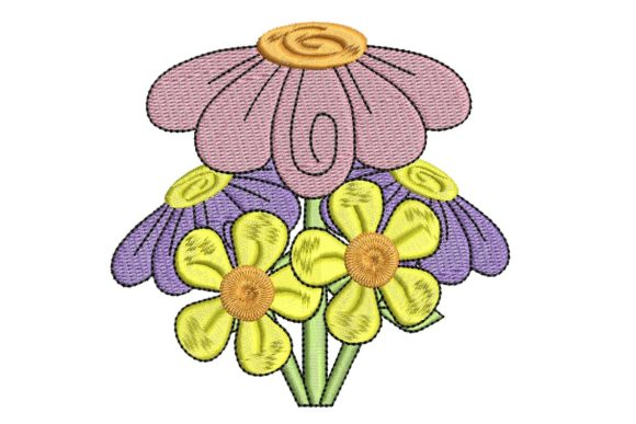 Easter Delight Flowers Ostern Stickdesign von BabyNucci Embroidery Designs