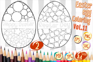 Print on Demand: Easter Egg Coloring Vol 11 Graphic 4th grade By Kiang Stock Digiart