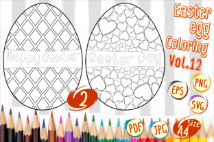 Print on Demand: Easter Egg Coloring Vol 12 Graphic 4th grade By Kiang Stock Digiart