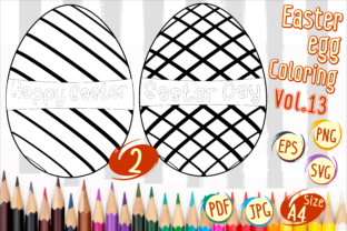 Print on Demand: Easter Egg Coloring Vol 13 Graphic 2nd grade By Kiang Stock Digiart